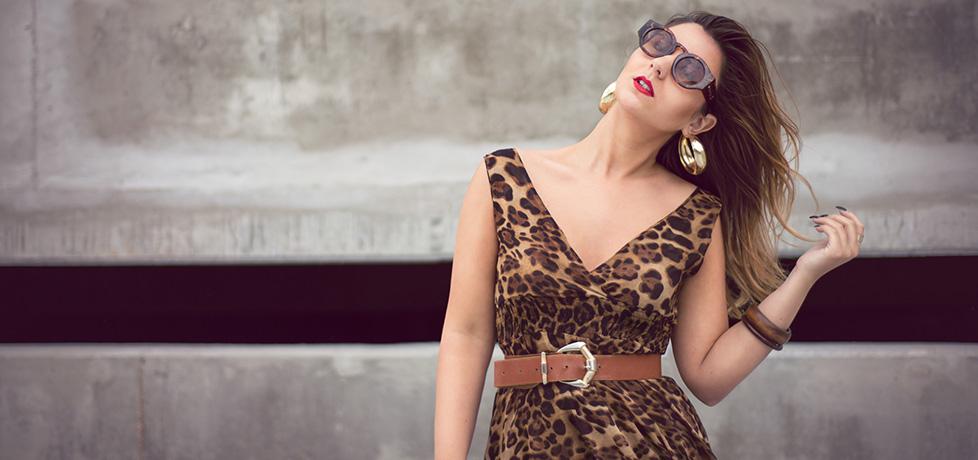 Cum purtam articolele rochia animal print vessos iulia andrei fashion blog