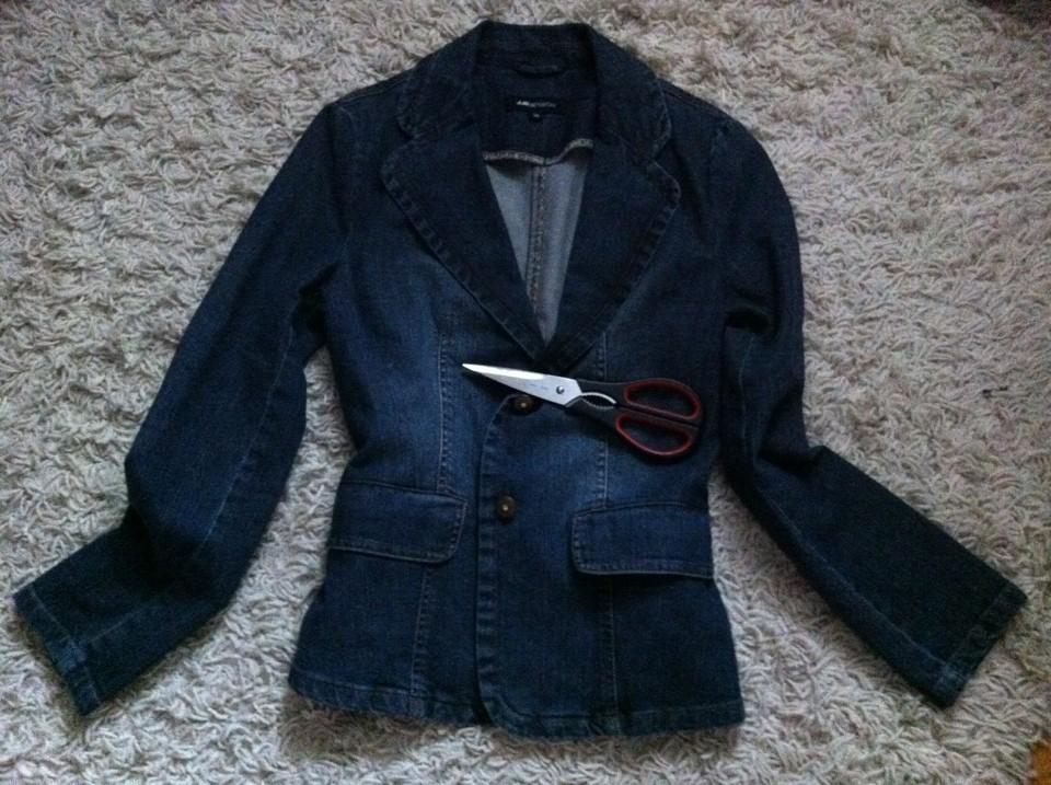 Foarfeca pentru geaca de blugi Iulia Andrei Fashion Blog