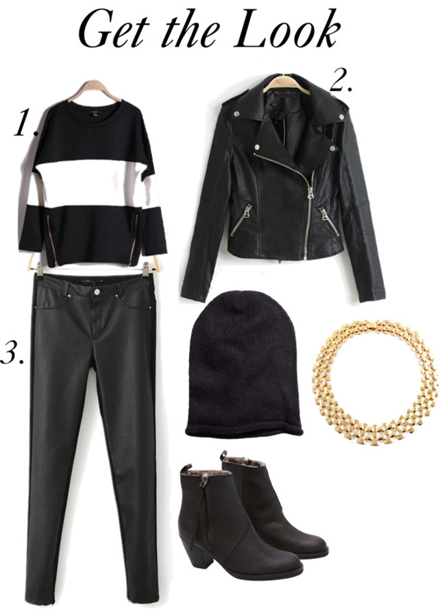 tinuta rock geaca din piele pantaloni din piele street style urba iulia andrei fashion blog