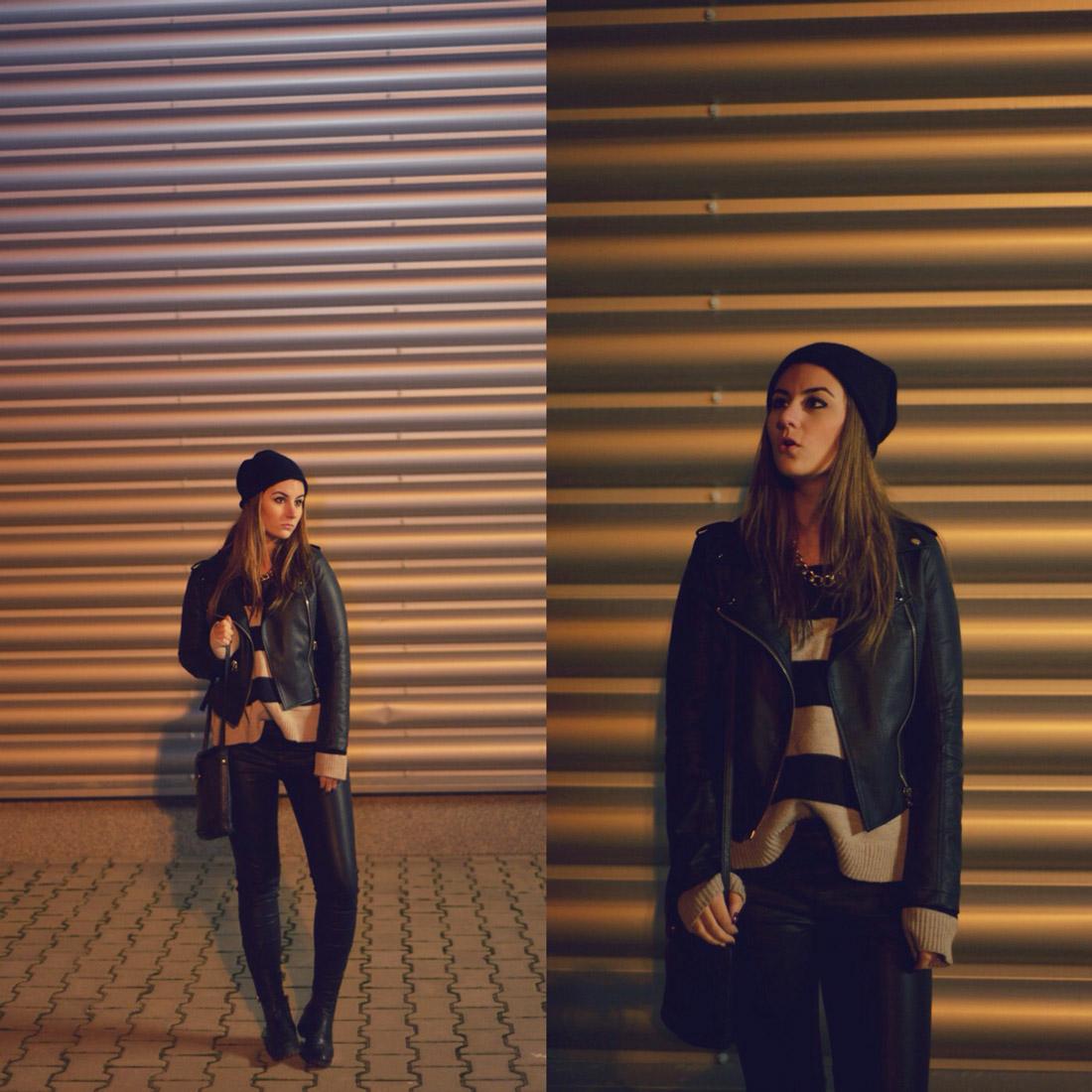 Tinuta rock geaca din piele stree style urban iulia andrei fashion blog