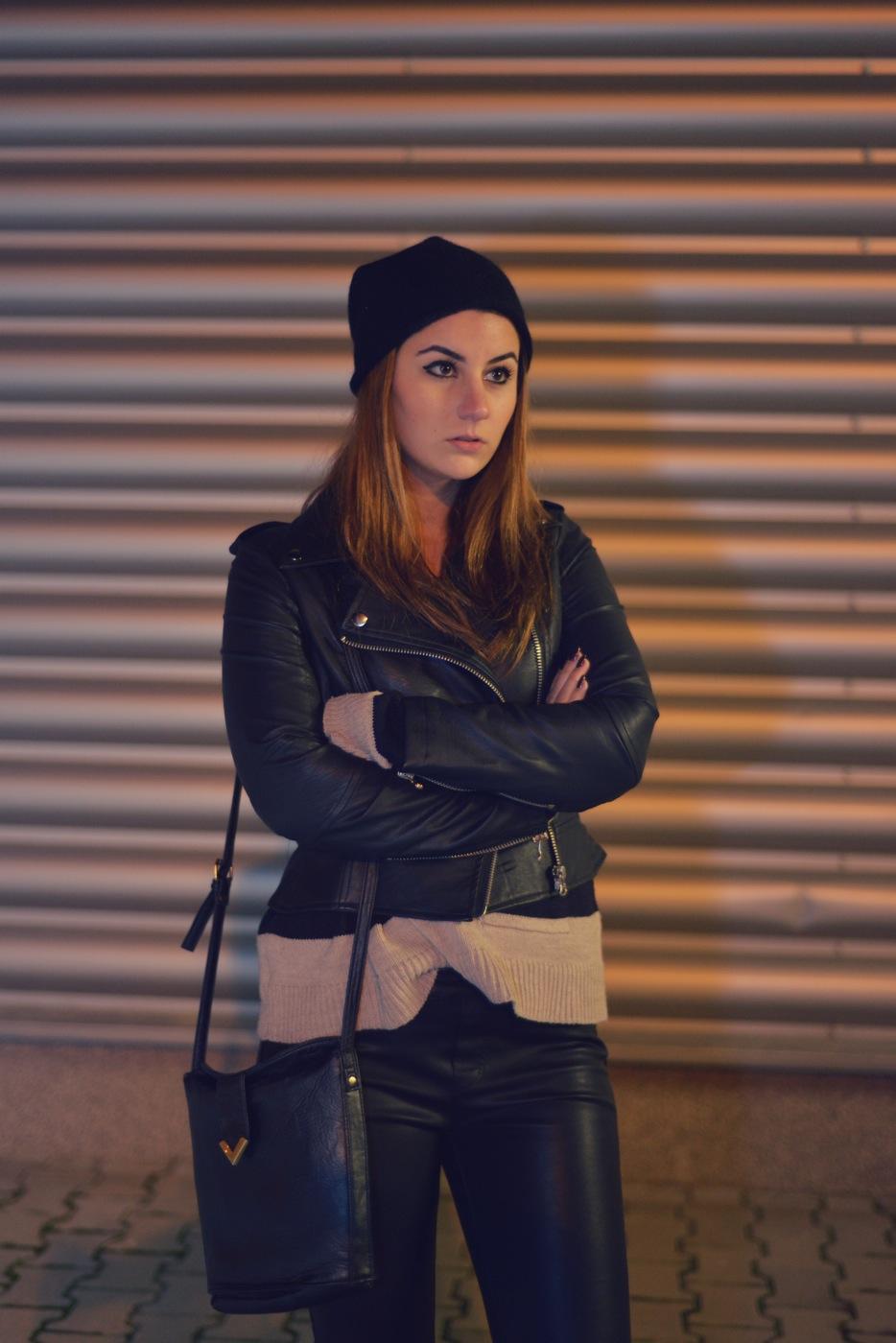 tinuta rock geaca din piele street style urba iulia andrei fashion blog