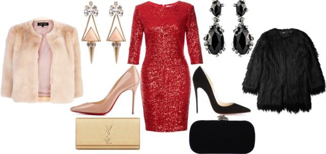 tinuta de revelion 2014 rochie rosie cu paiete iulia andrei fashion blog