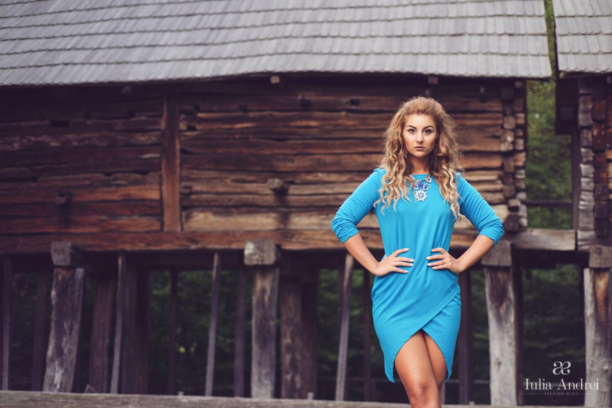Rochia Asimetrica Albastra la Be Creative #3 2014 fashion fest Sibiu Iulia Andrei Fashion Blog