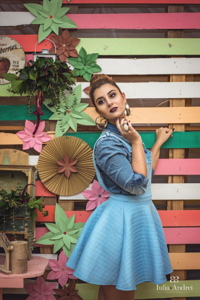 Toamna in culori pastelate, Rochia baby blue colectia toamna 2014 Romwe Iulia Andrei Fashion Blog, Decor Colorat Fiviya Vlad