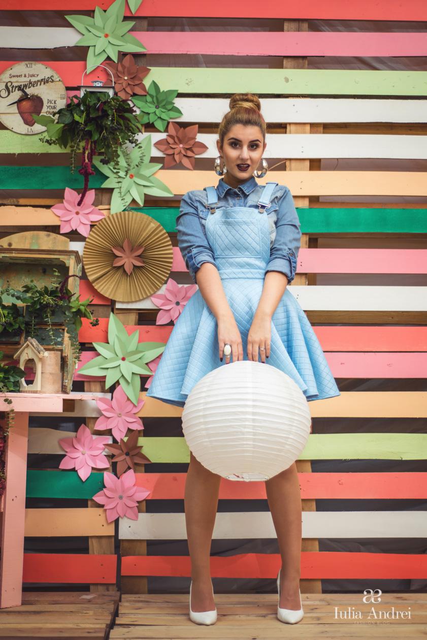 Toamna in culori pastelate, Rochia cu bretele baby blue colectia toamna 2014 Romwe Iulia Andrei Fashion Blog, Decor Colorat Fiviya Vlad