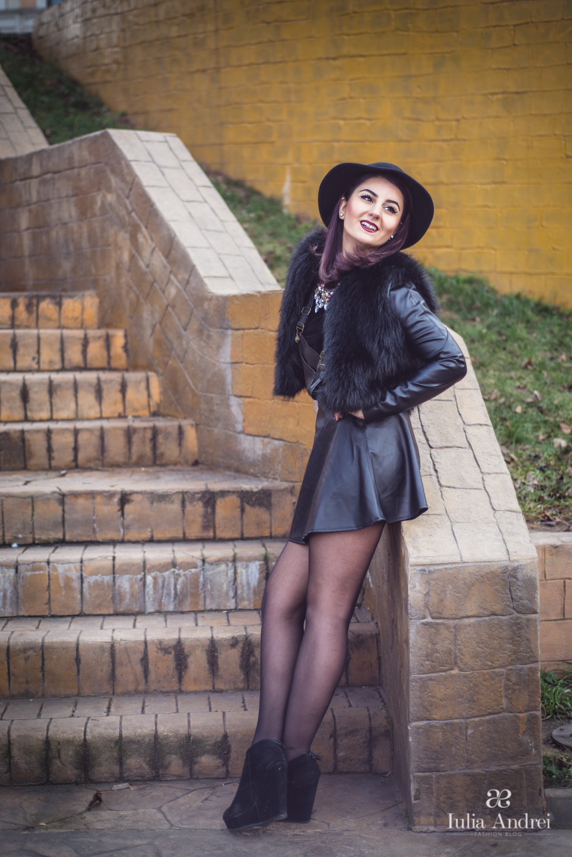 Pielea si blana, combinatia sezonului, Iulia Andrei Fashion Blog
