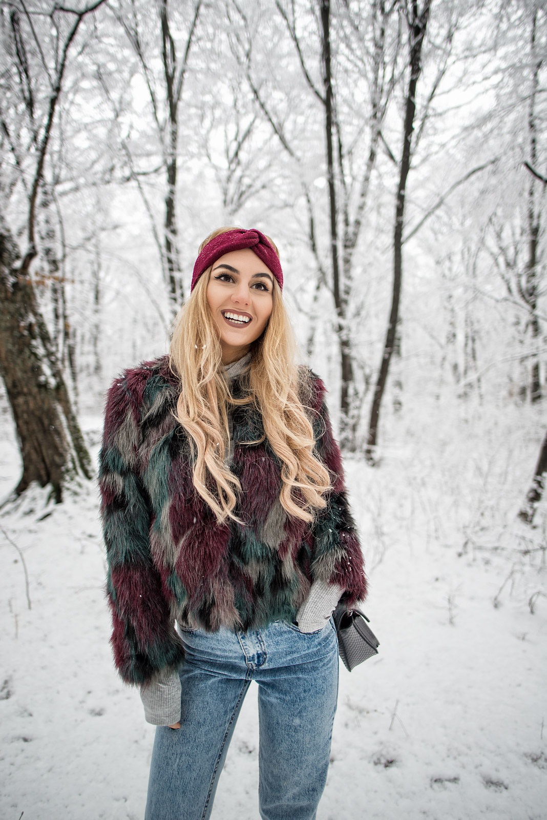 Chic and Warm in the Snow